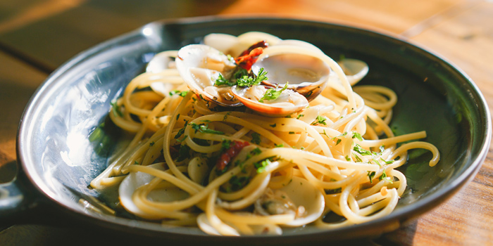 Spaghetti Vongole from Magpie BKK at Onnut Road, Bangkok