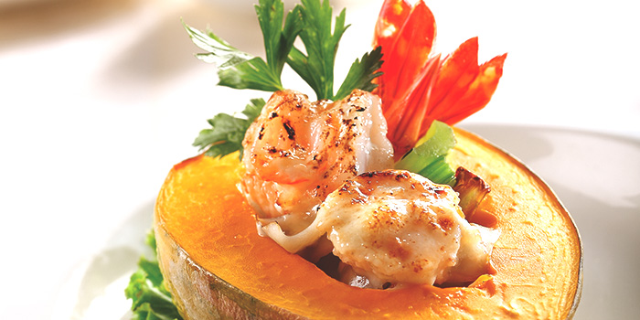 Baked Prawn & Scallop Topped with Mayonnaise & Cheese from Tien Court at Copthorne Kings Hotel Singapore in Robertson Quay, Singapore