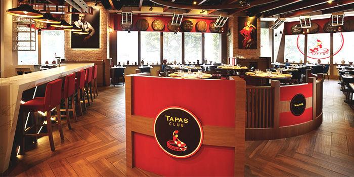 Interior of Tapas Club at Orchard Central in Orchard, Singapore