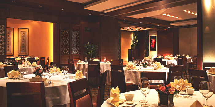 Interior of Tien Court at Copthorne Kings Hotel Singapore in Robertson Quay, Singapore
