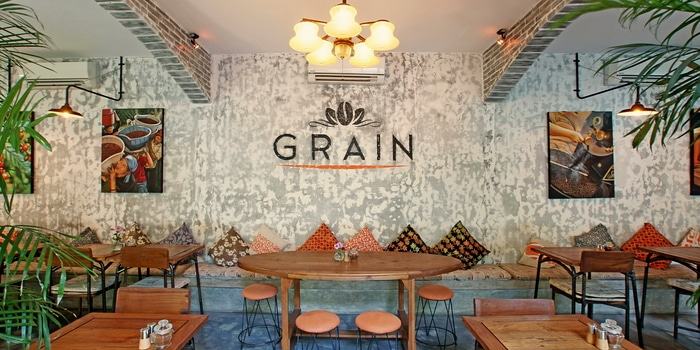 Interior of Grain Espresso in Seminyak, Bali