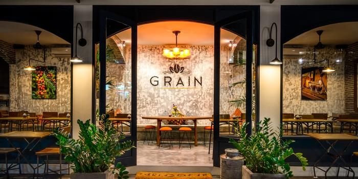 Exterior of Grain Espresso in Seminyak, Bali