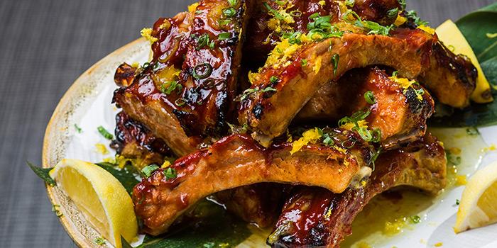 Yuzu BBQ Ribs, Shoku Japanese Binchotan Grill, Repulse Bay, Hong Kong