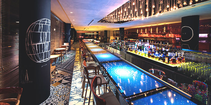 Bar Area of Beast & Butterflies at M Social Singapore in Robertson Quay, Singapore