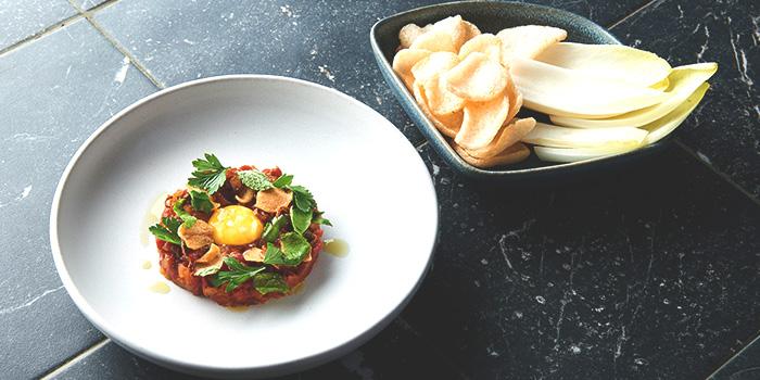Korean Steak Tartare Onion Kimchi from Butcher Boy in Keong Saik, Singapore
