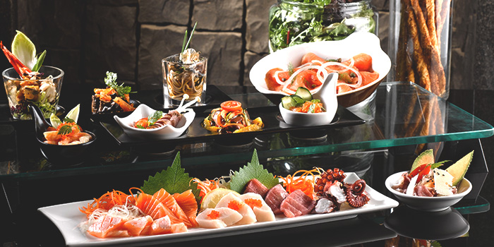 Buffet Spread from Café Mosaic at Carlton Hotel in City Hall, Singapore