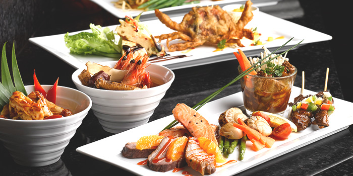 Food Spread from Café Mosaic at Carlton Hotel in City Hall, Singapore