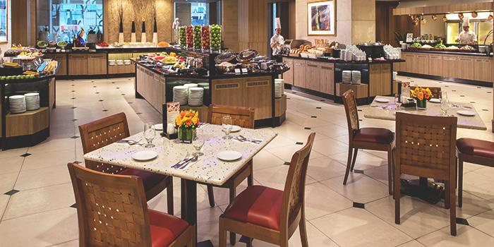 Interior of Café Mosaic at Carlton Hotel in City Hall, Singapore