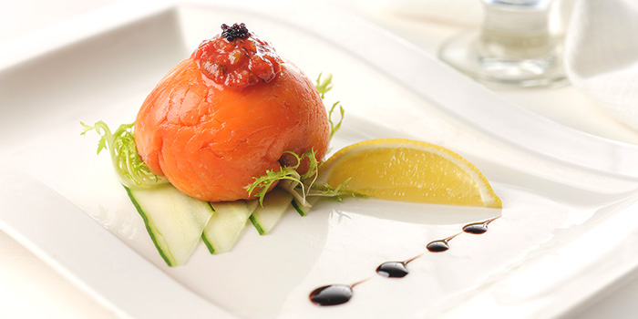 Smoked Salmon Parcel from Café Mosaic at Carlton Hotel in City Hall, Singapore