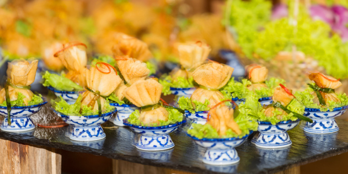 Canape of Kantok Restaurant in Patong, Phuket, Thailand.