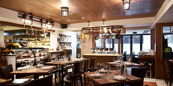 Interior, Bistecca Italian Steak House, Central, Hong Kong