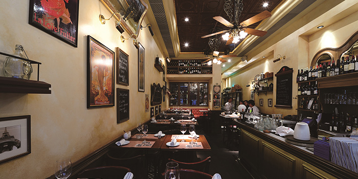 Dining Area, Bouchon Bistro Francais, Soho, Central, Hong Kong