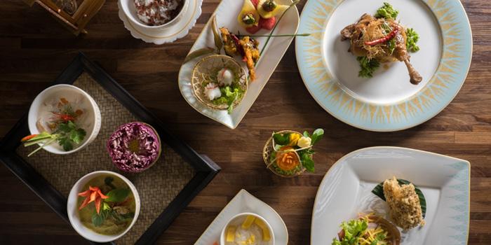 Food Selection from Sala Rim Naam at Mandarin Oriental, Bangkok