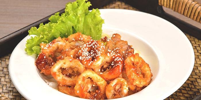 Calamari from Thai Wok Restaurant in Orchard, Singapore