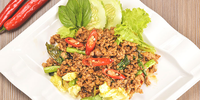 Chicken Basil from Thai Wok Restaurant in Orchard, Singapore