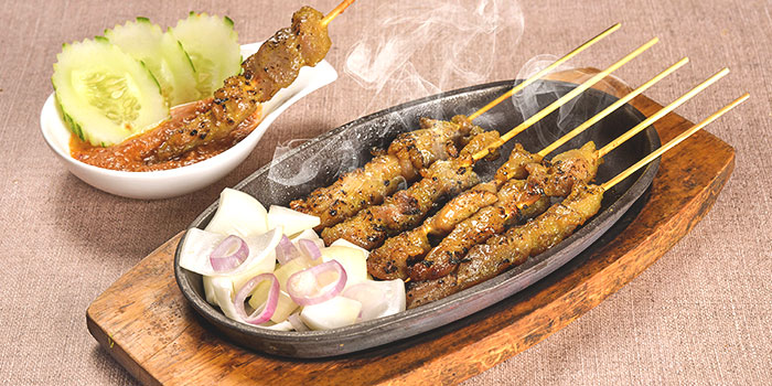 Satay from Thai Wok Restaurant in Orchard, Singapore