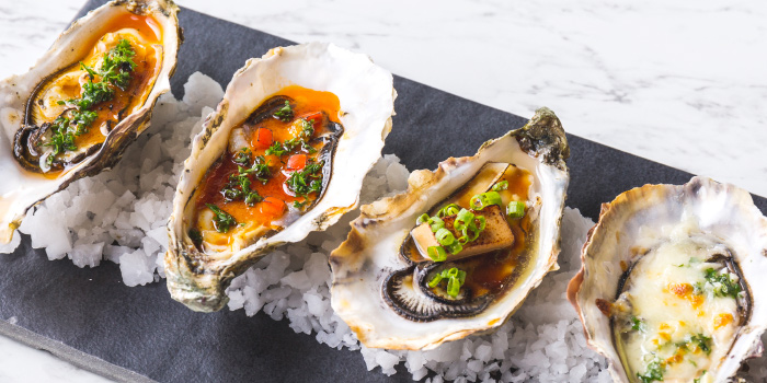 Grilled-Dressed-Oyster-Platter from The Dock at The Maze Thonglor, Bangkok