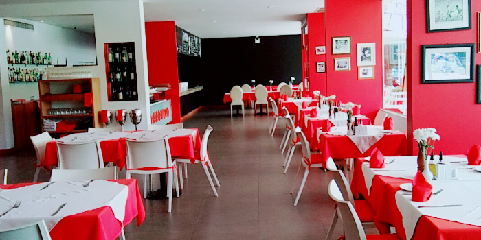 Interior of Rossovivo Ristorante Italiano E Pizzeria in Rawai, Phuket, Thailand