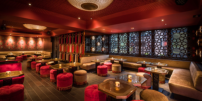 Interior, Lilya Moroccan Lounge & Bar, Central, Hong Kong