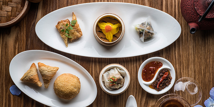 Dim Sum Spread from Jiang-Nan Chun Restaurant at Four Seasons Hotel Singapore in Tanglin, Singapore