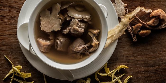 Double Boiled Soup from Jiang-Nan Chun Restaurant at Four Seasons Hotel Singapore in Tanglin, Singapore