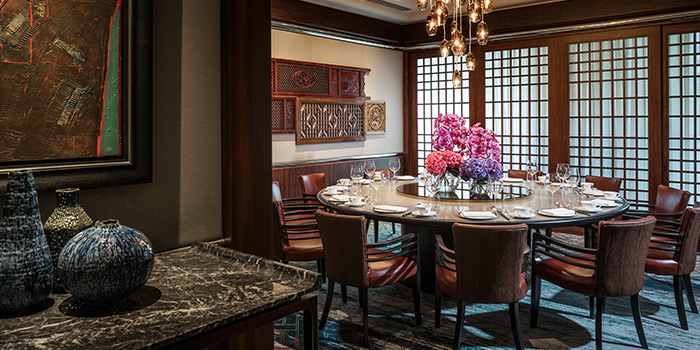 Winter Blossom Private Dining Room of Jiang-Nan Chun Restaurant at Four Seasons Hotel Singapore in Tanglin, Singapore