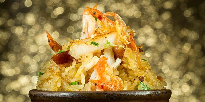 Fried Rice with Prawn and Sakura Shrimp and Conpoy and Roasted, Jade Dragon, Coloane-Taipa, Macau