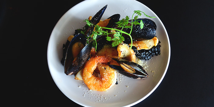 Squid Ink Paella from Oyster Co. (Magazine Road) at Central Mall in Clarke Quay, Singapore
