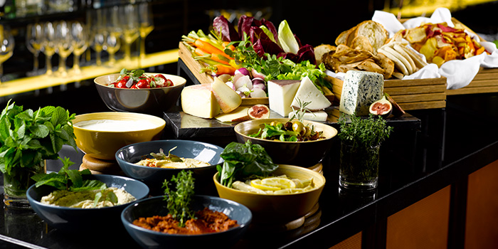 Cheese Section of One-Ninety Bar at Four Seasons Hotel Singapore in Orchard Road, Singapore