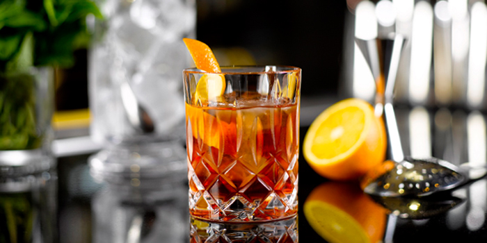 Negroni from One-Ninety Bar at Four Seasons Hotel Singapore in Orchard Road, Singapore