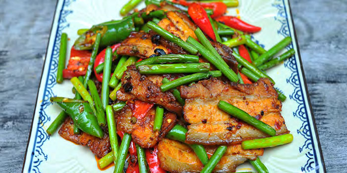 Double Cooked Pork Belly from Si Wei Mao Cai in Chinatown, Singapore