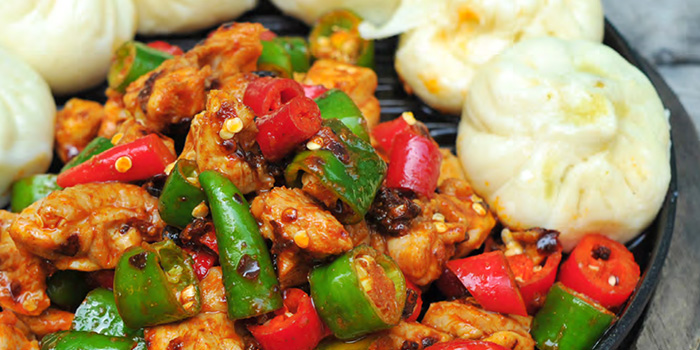 Pan-Fried Chicken from Si Wei Mao Cai in Chinatown, Singapore