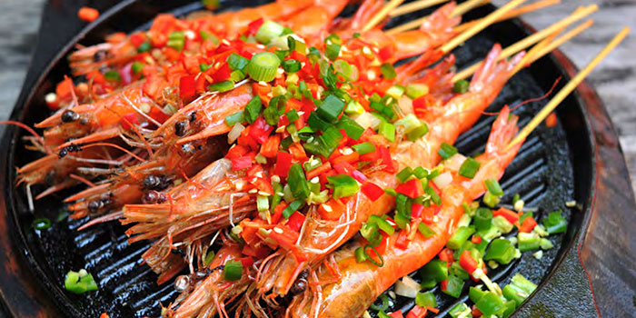 Si Wei Grilled Prawn from Si Wei Mao Cai in Chinatown, Singapore