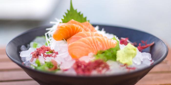 Salmon-Sashimi from Hansha in Nai Harn, Phuket, Thailand.