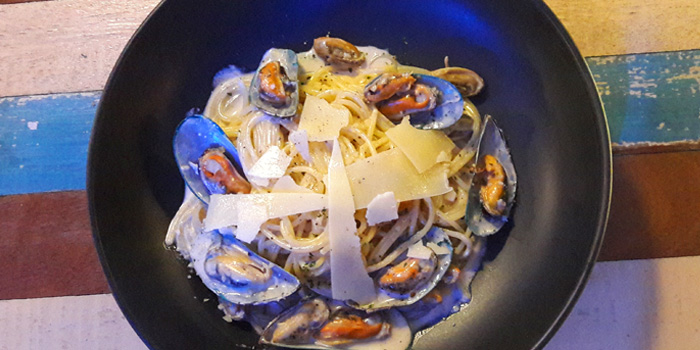 Spaghetti from KUTAI Mussels Restaurant & Bar at Soi Suanplu,Thungmahamek, Sathorn, Bangkok