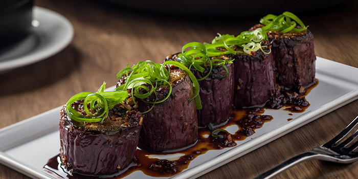 Steamed Chinese garlic eggplant, BLT Steak, Tsim Sha Tsui, Hong Kong