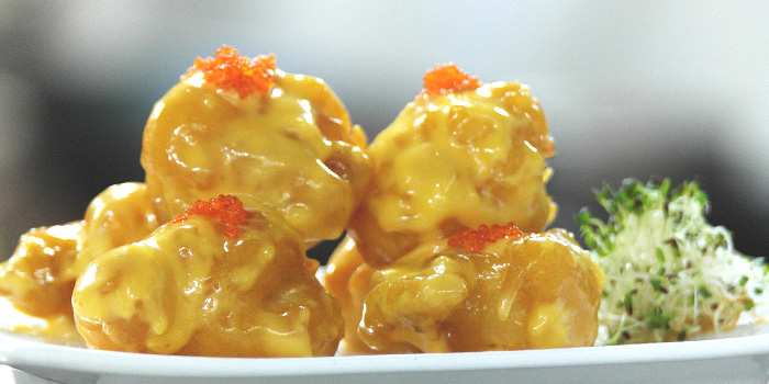 Deep Fried Prawn Ball with Salted Egg from Tonny Restaurant at Geylang in Kallang, Singapore