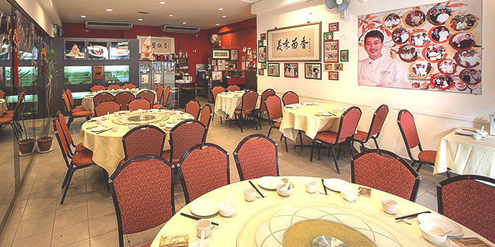 Interior of Tonny Restaurant at Geylang in Kallang, Singapore