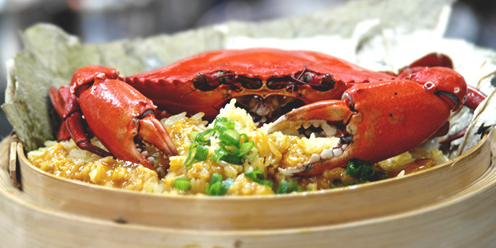 Steamed Curry Crab with Glutinous Rice from Tonny Restaurant at Geylang in Kallang, Singapore