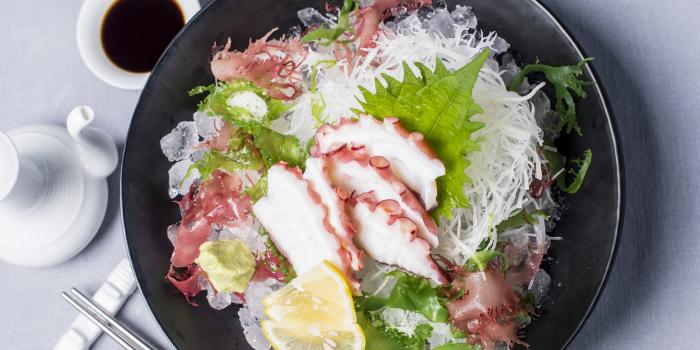 Tako-Octopus-Sashimi from Hansha in Nai Harn, Phuket, Thailand.