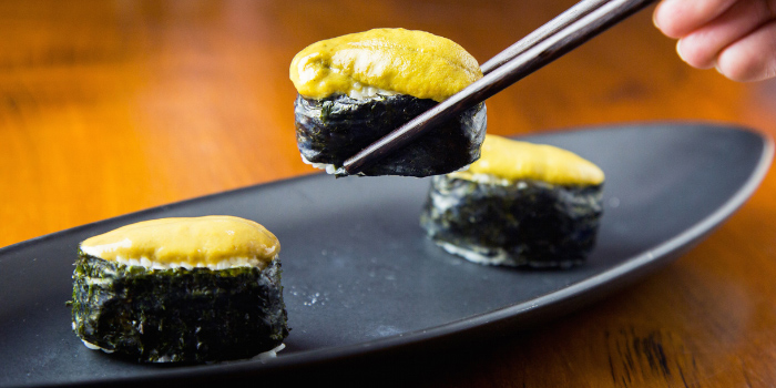 Uni-Gunkan from Sea Truffles Seafood Bar at The Opus Building, Bangkok