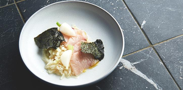 Hamachi Sashimi Soy Tokyo Turnip from Butcher Boy in Keong Saik, Singapore