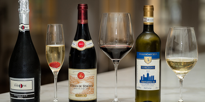 Trio of Wine from 28Wilkie Italian Restaurant & Caviar Bar in Dhoby Ghaut, Singapore