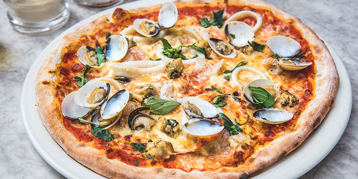 Sofia Seafood Pizza from Spizza at Balmoral Plaza in Bukit Timah, Singapore