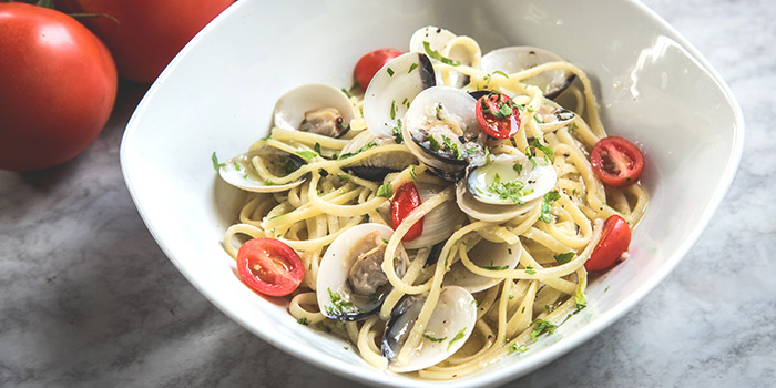 Linguine with Vongole in White Wine Sauce from Spizza (Jalan Kayu) in Yio Chu Kang, Singapore