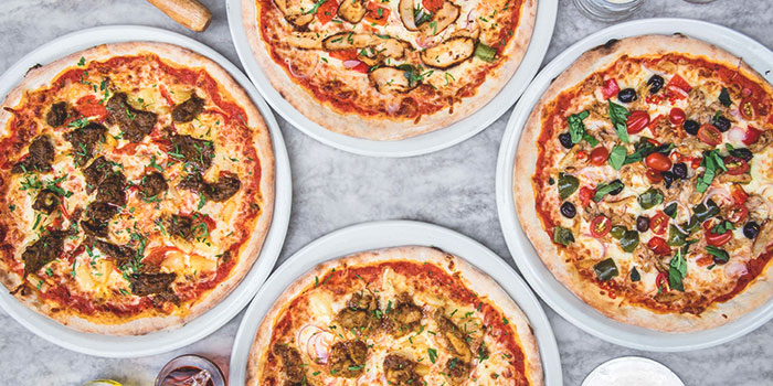 Pizzas from Spizza at Balmoral Plaza in Bukit Timah, Singapore