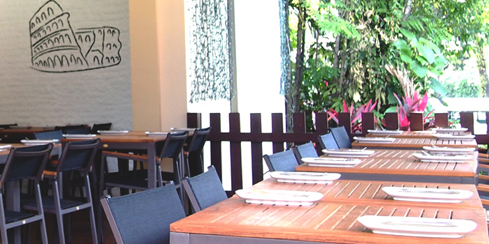 Al Fresco Area of Spizza at Balmoral Plaza in Bukit Timah, Singapore