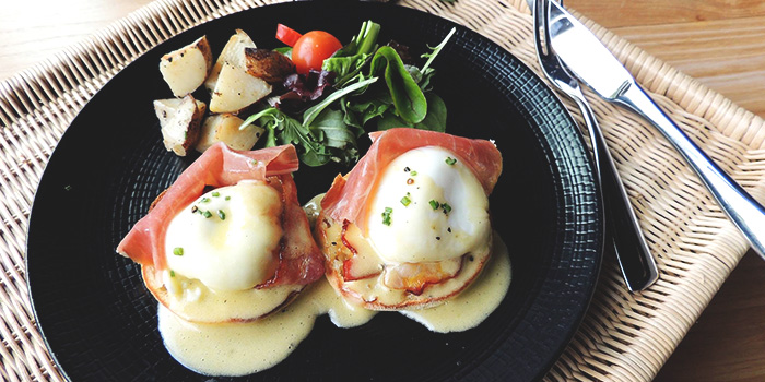 Parma Eggs Benedict from Big Fat Mama in Sentosa, Singapore