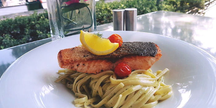Salmon Fillet Tagliatele Pesto from Big Fat Mama in Sentosa, Singapore