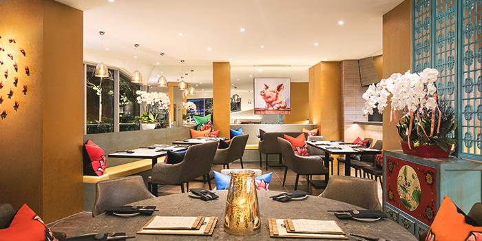 Interior of Blue Lotus - Chinese Grill House at Tanjong Pagar Centre in Tanjong Pagar, Singapore